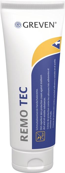 GREVEN® REMO TEC    100 ml    schmutzabweisende Handschutzcreme zur Anwendung bei stark haftenden öligen oder trockenen Verschmutzungen