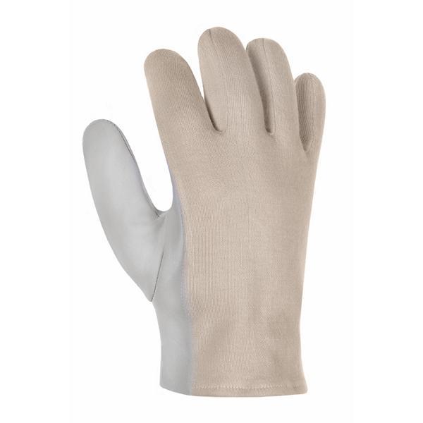 Arbeitsschutzhandschuh Ziegen-/Schafsnappa-Handschuhe mit Trikotrücken | Größe 6 - 10  | natur, ungefüttert