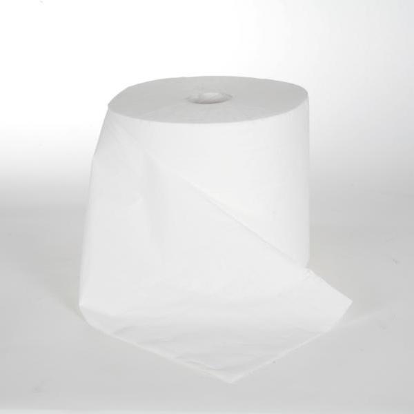 Papierhandtücher Rollenhandtücher Außenabrollung 2-lagig, geprägt, unperforiet, 100% Zellstoff weiß, 120 m, endlos   6 Rollen    passend für Spender: KC Slim Handtuchrollenspender