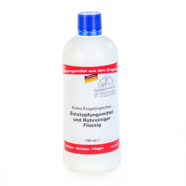 Erstes Erzgebirgisches Entstopfungsmittel und Rohrreiniger flüssig | 750 ml  | Löst durch hohe Konzentration an Schwefelsäure auch tieferliegende Verstopfungen.