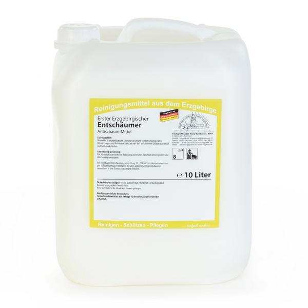 Erster Erzgebirgischer Entschäumer | 10 Liter  | zerstört schnell Schaum im Reinigertank oder in Bodenreinigungsmaschinen