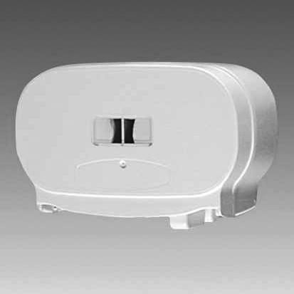 Toilettenpapier-Rollen-Spender für 2 Rollen, Fix Rollenspender   mit System, Kunststoff weiß