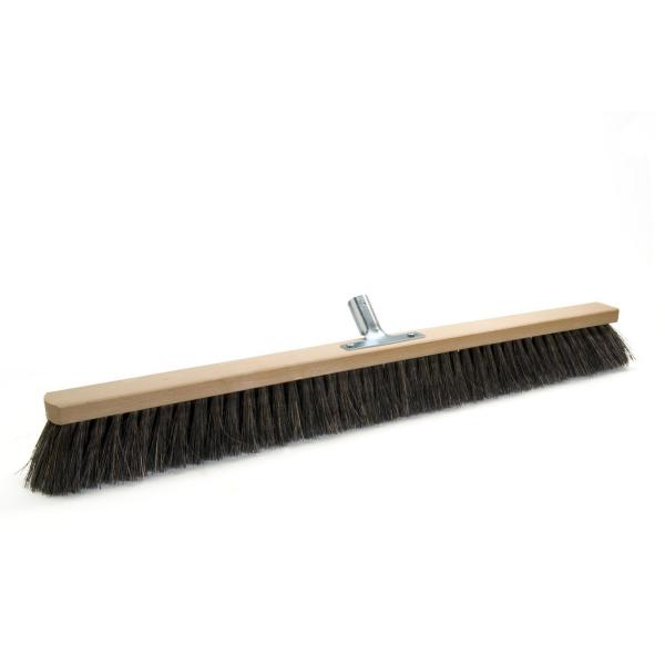 Arengasaalbesen 80 cm, Körper: Holz unlackiert, Borsten: Arenga, mit Stielhalter Metall