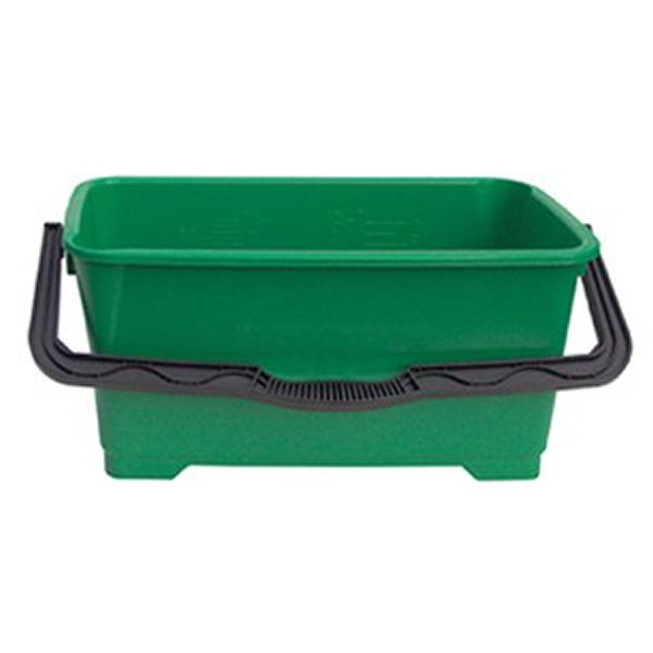 Unger® Eimer eckig 28 Liter, grün, für die Glasreinigung QB220