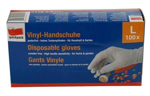 Quickpack Vinyl-Handschuhe   weiß   extra dünn   100 Stück/Box