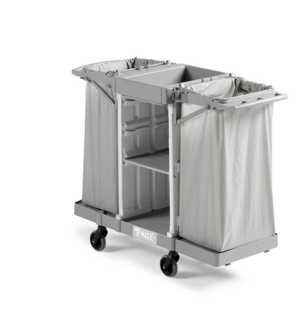 """Servicewagen """"Magic Hotel 800B"""" grau     Reinigungswagen/Wäschewagen, ohne Wäschesäcke"""