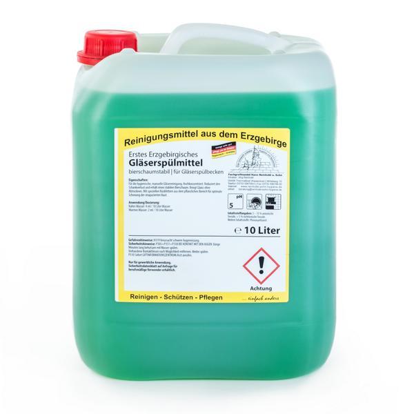 Erstes Erzgebirgisches Gläserspülmittel | 10 Liter  | bierschaumstabil, für Gläserspülbecken