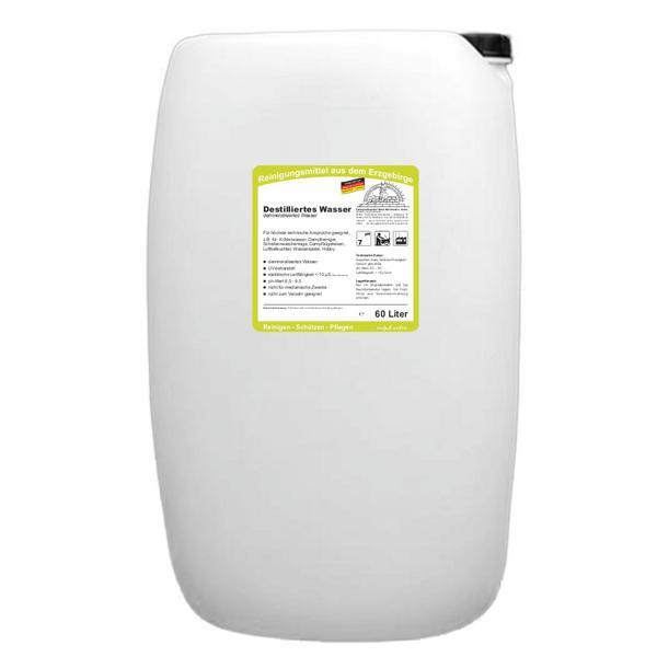 Destilliertes Wasser | 60 Liter   | (+Pfandgebühr Artikel 99971) (geänderte Produktbeschreibung 04.12.2017)