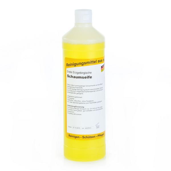 Erste Erzgebirgische Schaumseife | 1 Liter  | extra milde, hochergiebige Schaumseife zum Nachfüllen, parfümiert