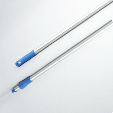 Hygiene - Aluminiumstiel, Standart 1,50 m, Ø 25 mm | blau  | für System Außengewinde mit Innensechskant