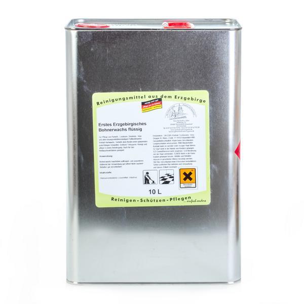 Erstes Erzgebirgisches Bohnerwachs flüssig   10 Liter    flüssiges Hartglanzwachs für unversiegelte Böden