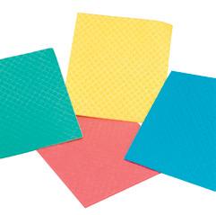 10 Stück Spültuch/Wischtuch/Schwammtuch 18 x 20 cm, weich gemacht, Farben: blau, gelb, grün, rot
