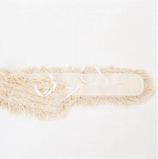 Feuchtwischmopp  80 cm mit Bändern und Tasche | 100% Baumwolle, Aufnahme: Bänder, passend für Mopp-Halter 60040