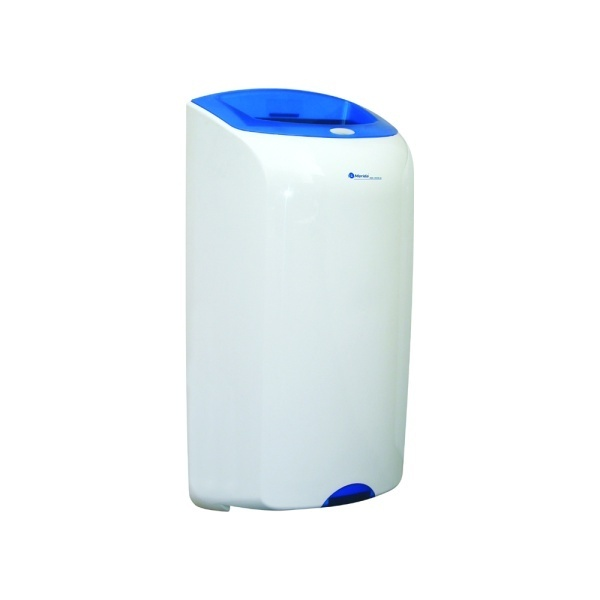 "Abfallbehälter, Wandabfallbehälter ""Merida Top"" 40 Liter | weiß/blau"