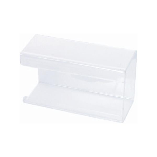 Spender mit Feder  für Einweghandschuhe | transparent aus Acryl  | geeigent für viele Einweghandschuh-Boxen