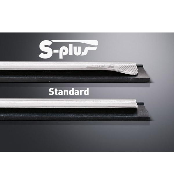 S-Schiene Plus 35 cm komplett mit weichem Gummi   UC350   Edelstahl, für ErgoTec®-, S- und Pro-Wischer