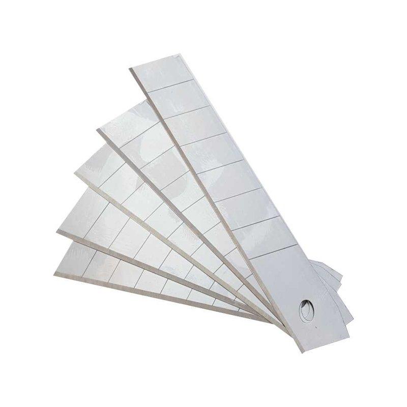 Teppichmesser/Abbrechmesser-Ersatzklingen , 18 mm | 10 Stück | Klingenbreite 18 mm, passend für Abbrechmesser 85316