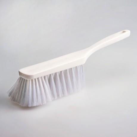 Hygiene - Handfeger 28 cm Borsten weiß  | Körper: Kunststoff weiß, Borsten: Polyester PBT 0,25 weiß