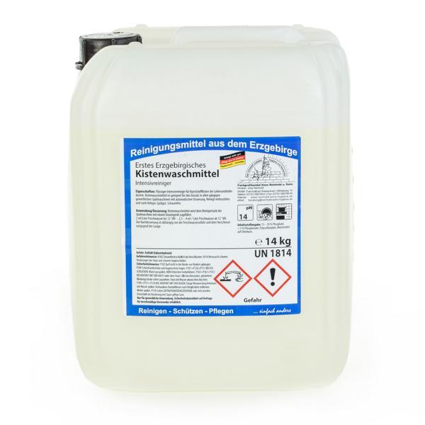 Erstes Erzgebirgisches Kistenwaschmittel | 14 kg  | flüssiger Intensivreiniger für Kunststoffkisten der Lebensmittelindustrie