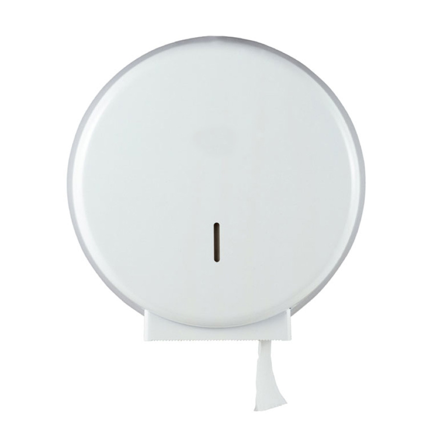 Toilettenpapier-Großrollen-Spender Jumbo   Kunststoff weiß   passend für Art. A10046